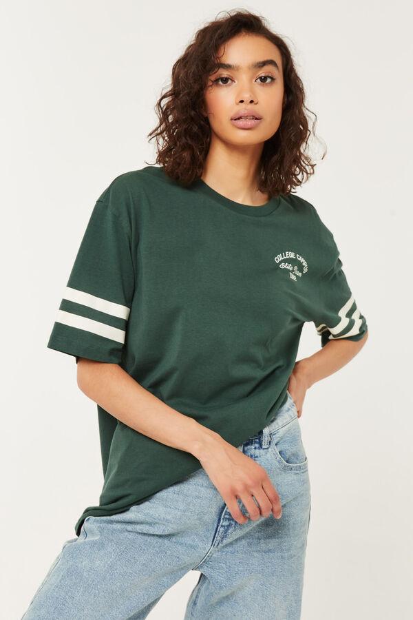 T-shirt boyfriend emblème de collège