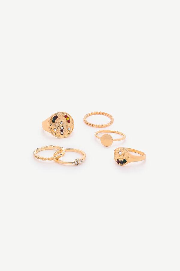 Stars & Moon Ring Set