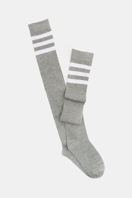 aed5983a638 Striped Over The Knee Socks