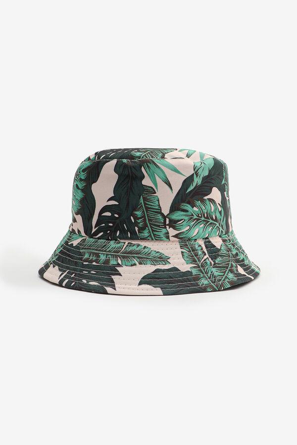 Chapeau de pêche réversible à feuilles vertes