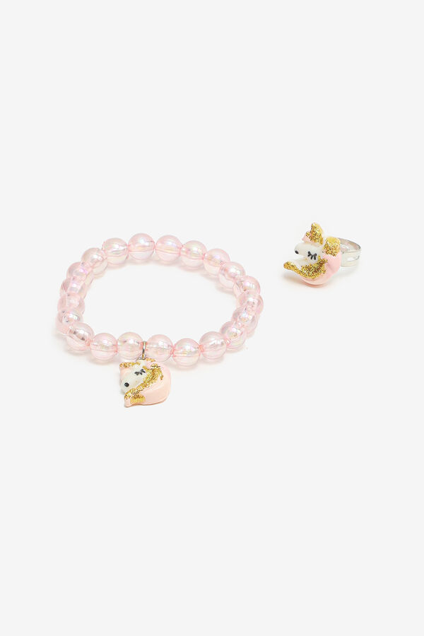 Unicorn Ring & Bracelet Set for Girls