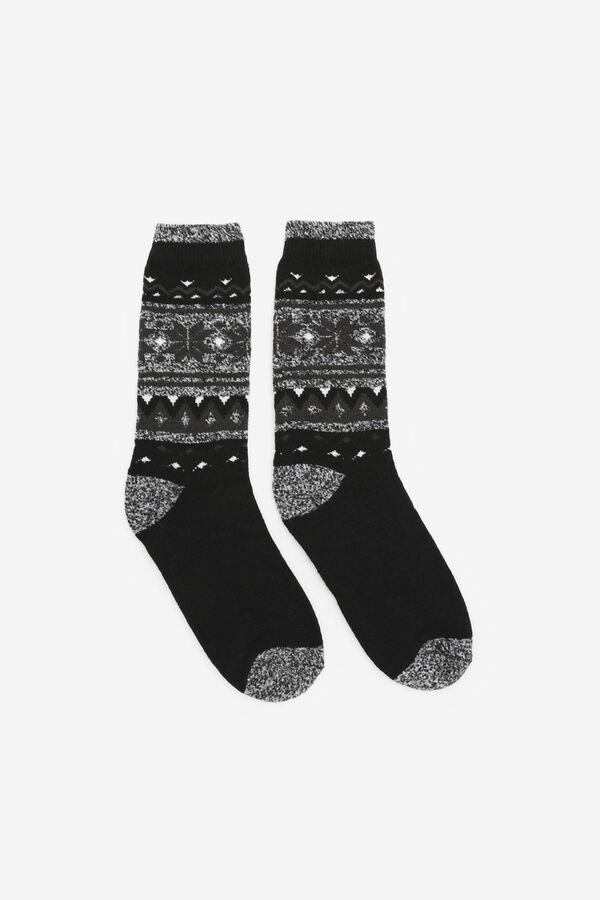 Thermal Fair Isle Crew Socks