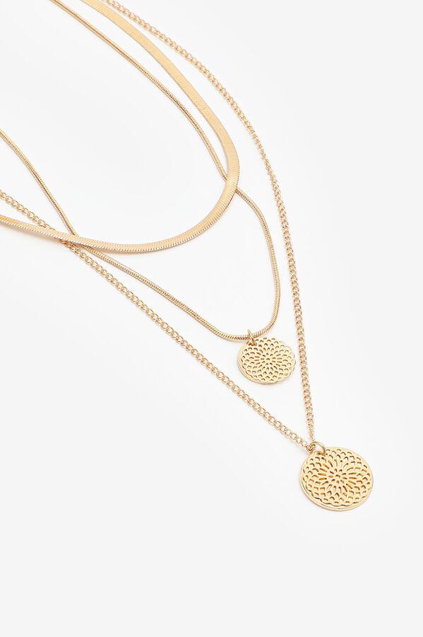 Layered Circular Pendant Necklace