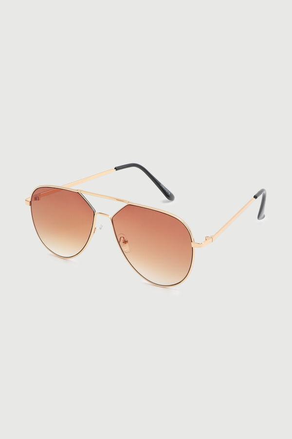 Wide Aviator Sunglasses