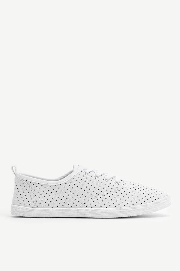 Canvas Polka Dot Sneakers