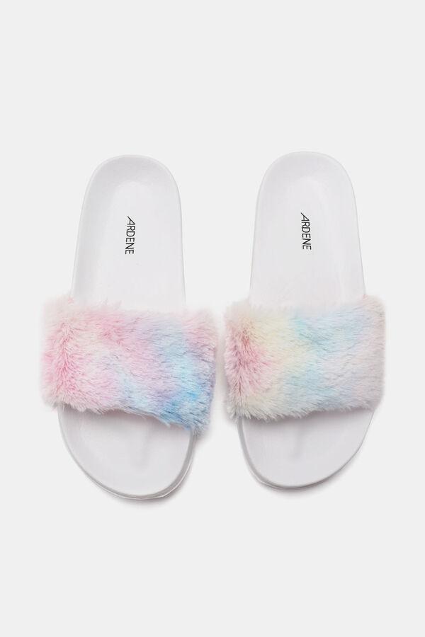 rainbow fur slides