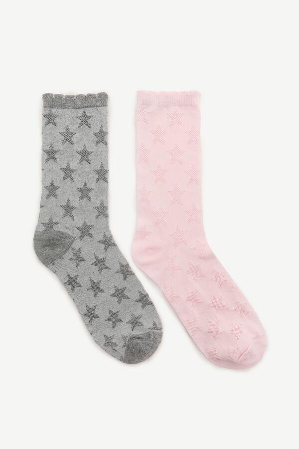 Star Print Crew Socks