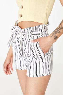 12513de0ceb Striped Belted Paper Bag Shorts