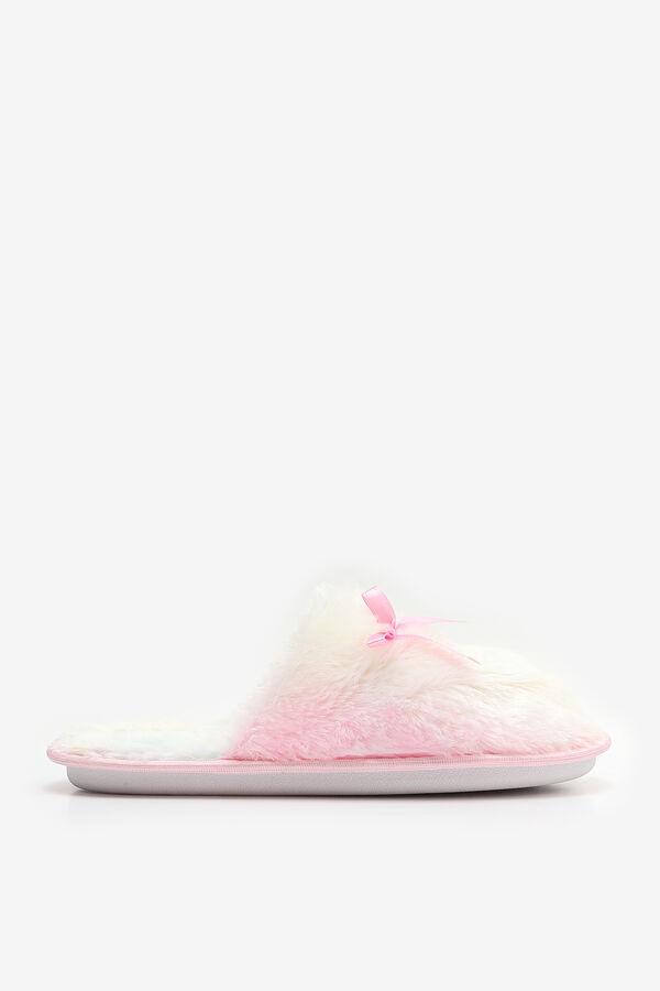Faux Fur Open Back Slippers