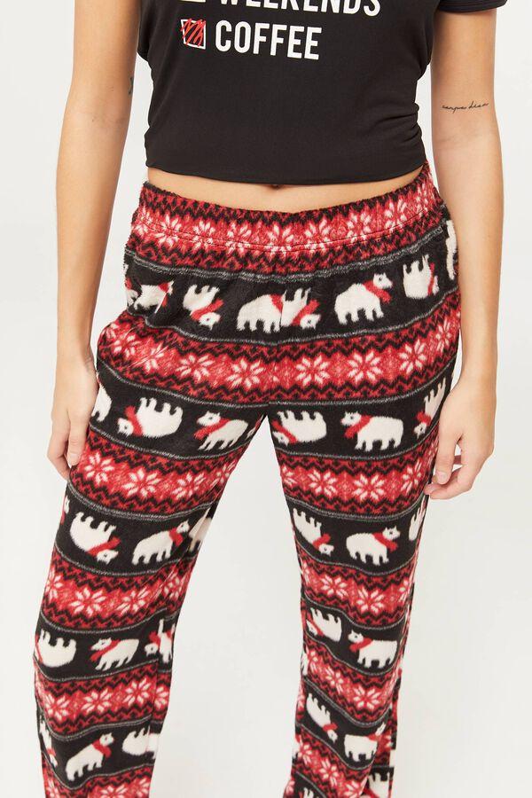 Pantalon de pyjama pelucheux Fair Isle des fêtes