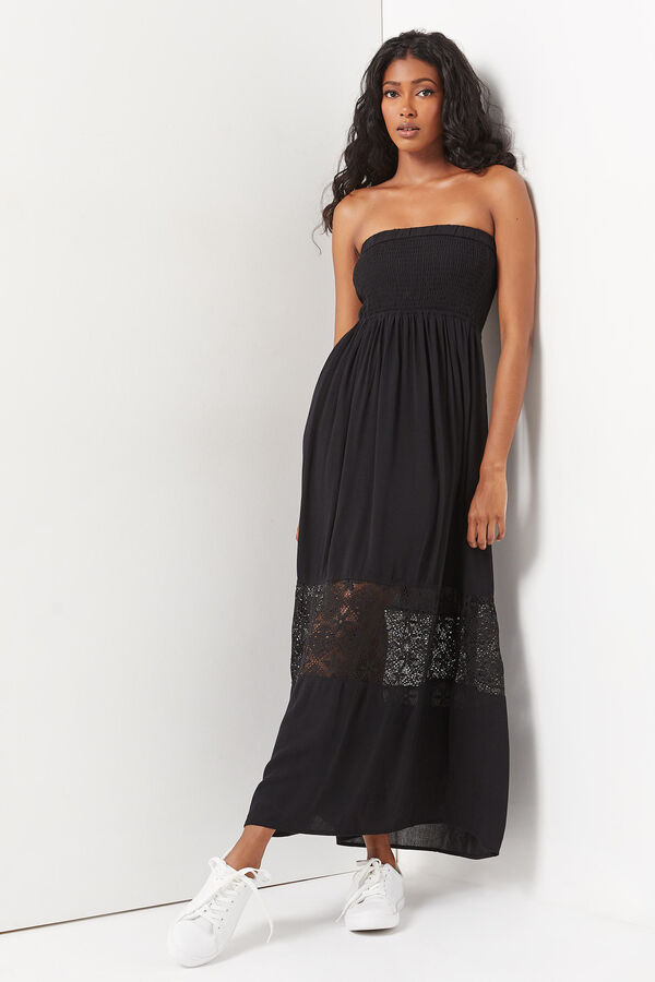 Smocked Tube Maxi Dress