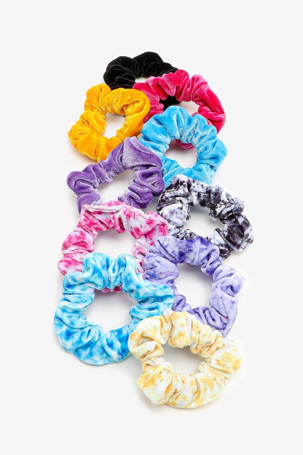 Large Tie-Dye & Solid Velvet Scrunchies