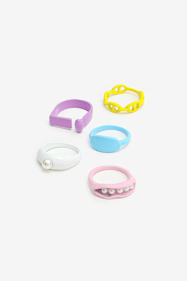 5-Pack Colorful Rings