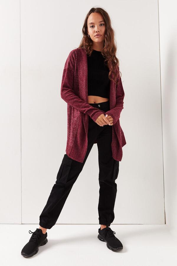 Cardigan ouvert en tricot brossé