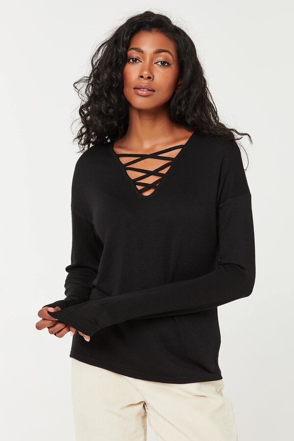 2-Way Peach Knit Sweater