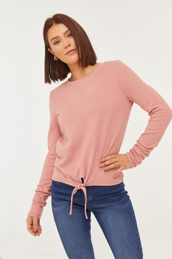 Crochet Back Sweater