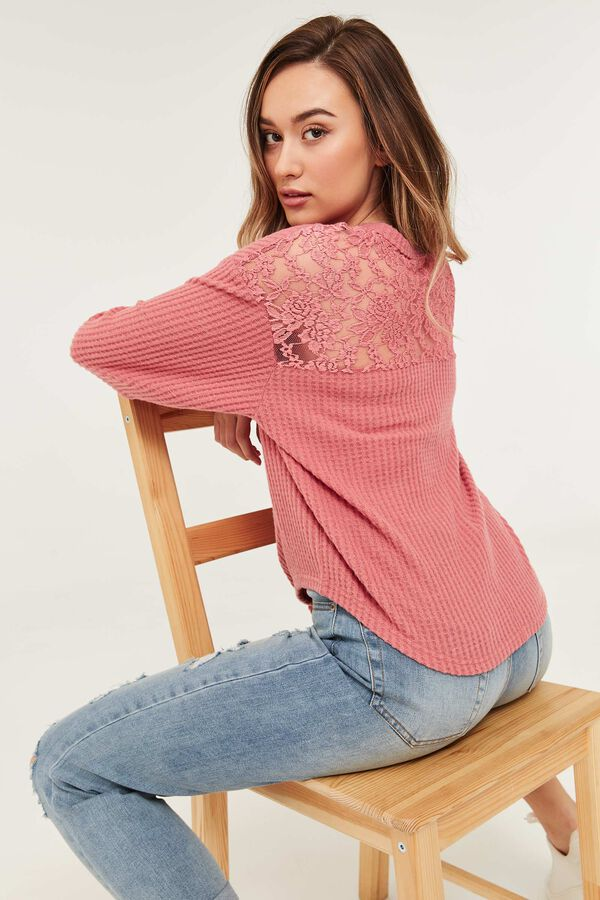 Knotted Sweater with Lace Back