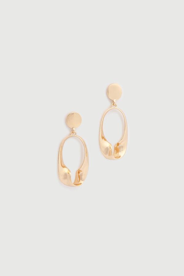 Twisted Oval Earrings