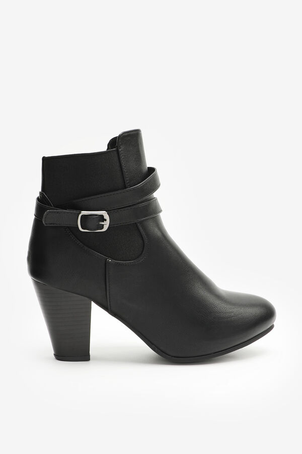 Cone-Heeled Chelsea Boots