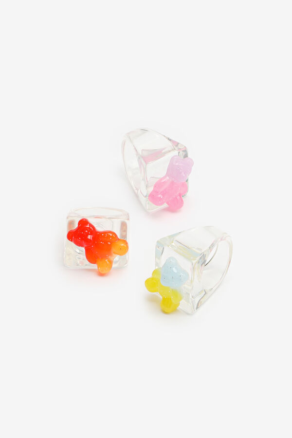 3-Pack Square Rings with Gummy Bears