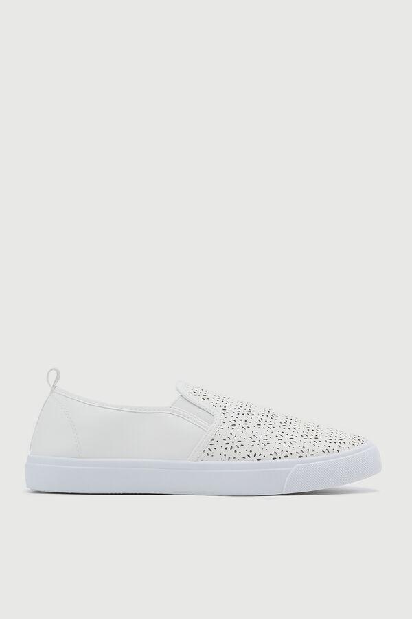 Laser Cut Slip-On Sneakers