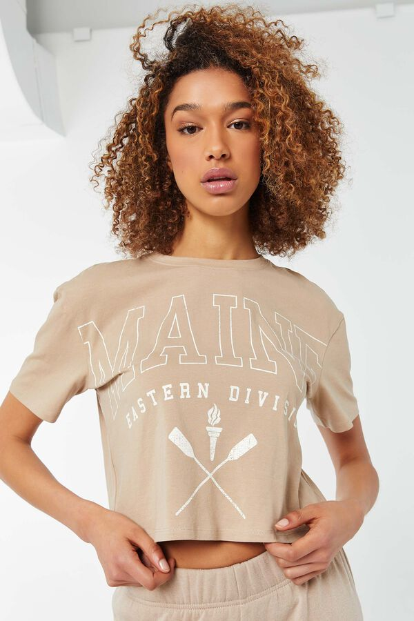 Graphic Dropped Shoulder Boxy Tee