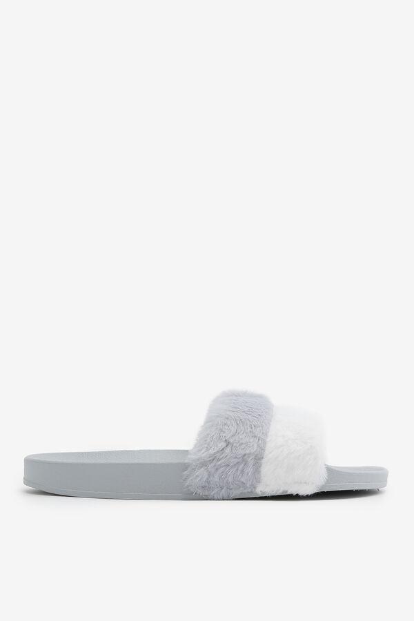 Faux Fur Strap Slides
