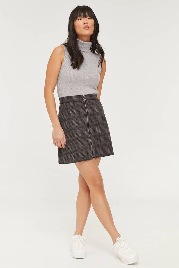 Zipped Plaid Mini Skirt - Clothing | Ardene