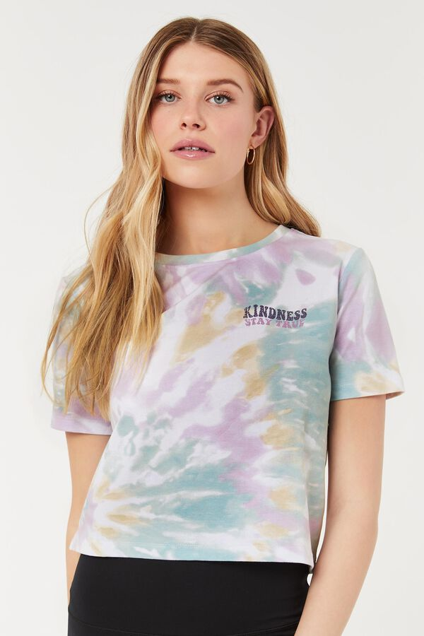 Cropped Tie-dye Graphic Tee