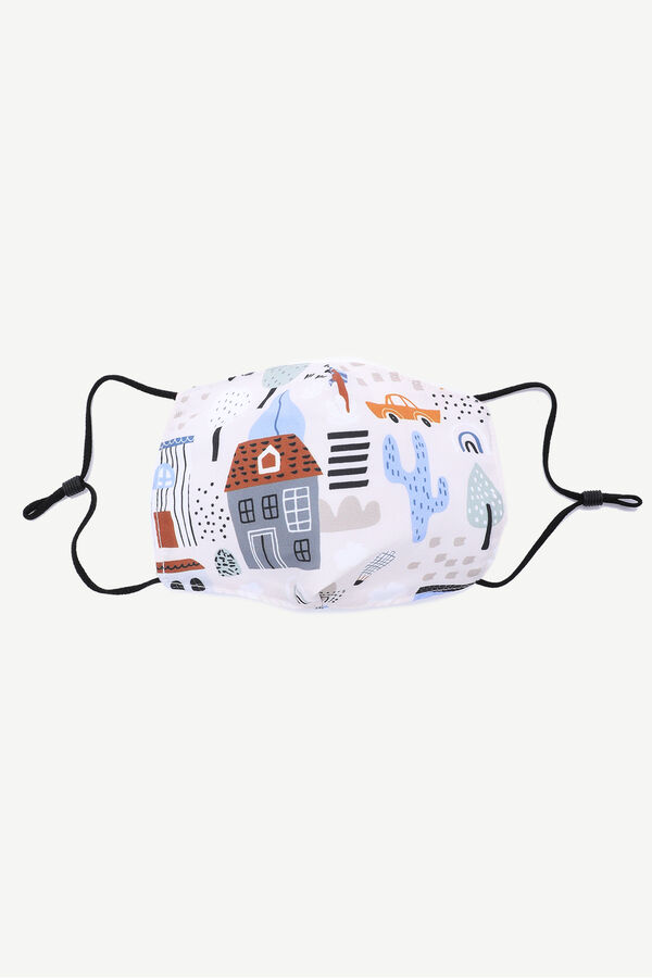 House Print Face Covering for Kids