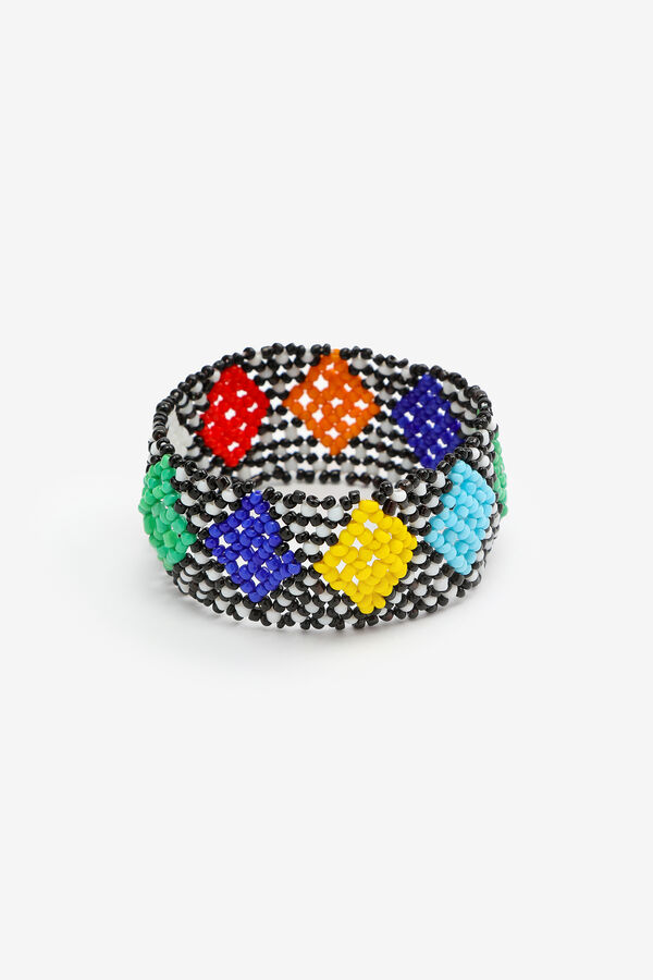 Wide Beaded Bracelet
