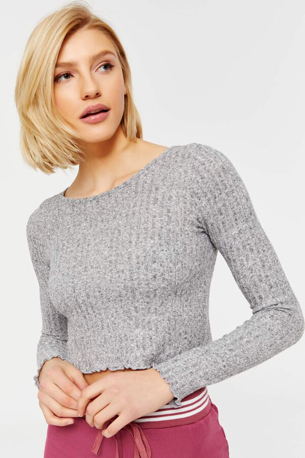 Images. Brushed Brushed Knit Crop Top ... 3ddc91c0e