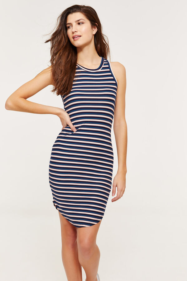 42cb94cad616f Ardene Ardene Women's Super Soft Bodycon Striped Midi Dress, blue, fall  winter 2019 CLOTHING, ...