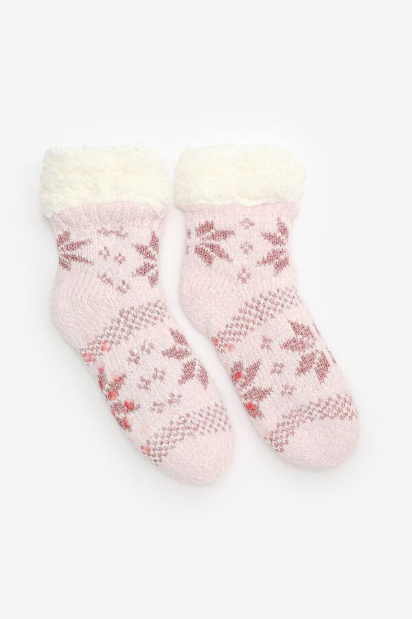 Chaussettes pantoufles flocons de neige