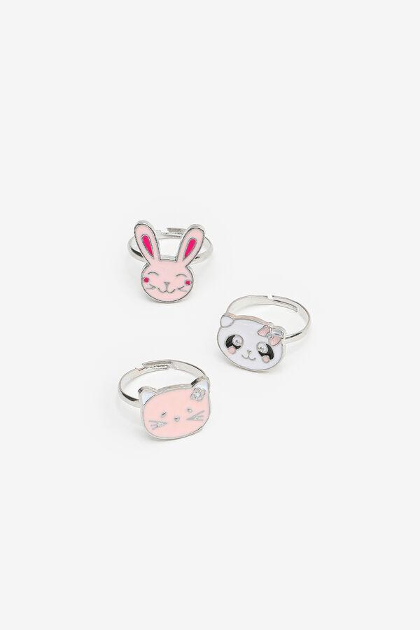 3-Pack Animal Rings for Girls