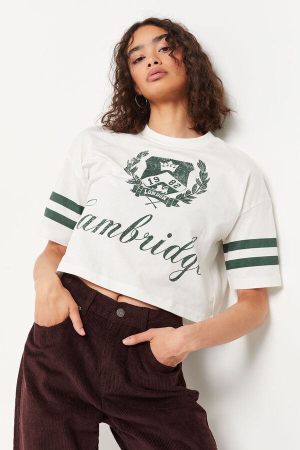 Athletic Cotton Jersey Boxy Tee