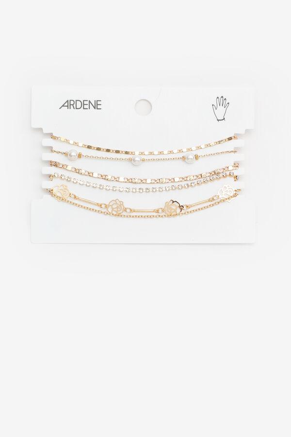 Pearl & Rose Chain Bracelets