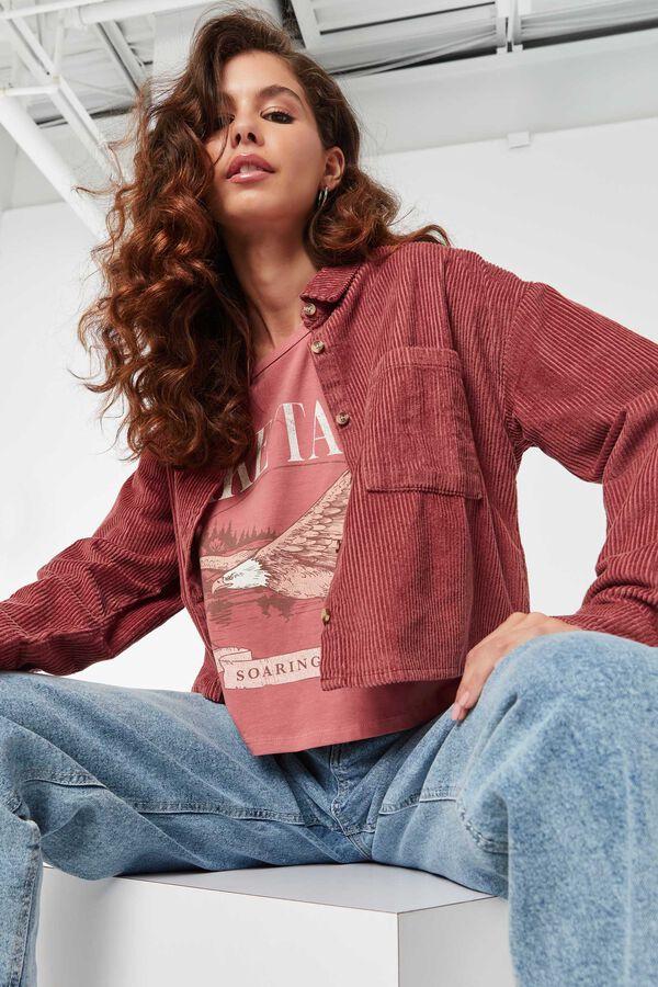 Chemise carrée en velours côtelé