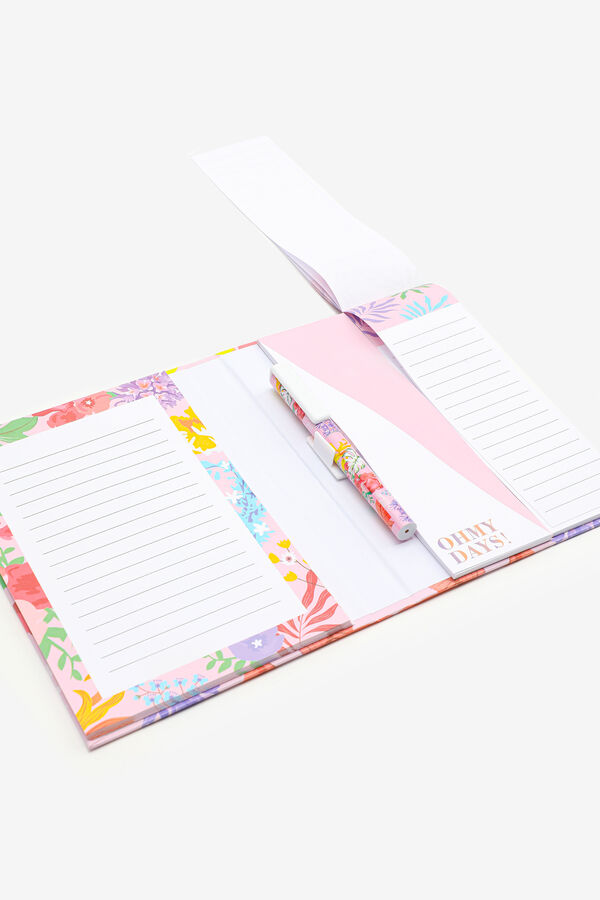 Floral Notepad and Pen Set