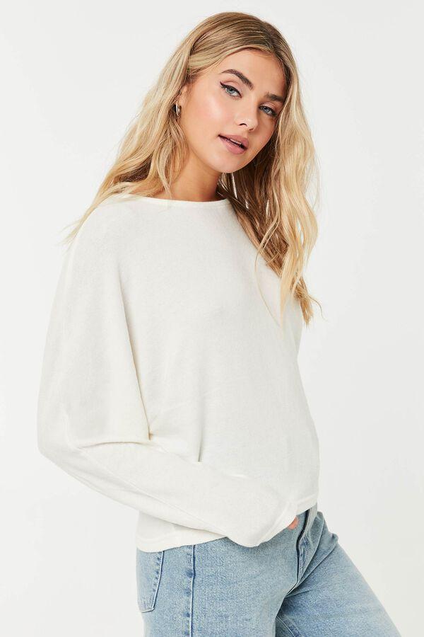 Brushed Dolman-Sleeved Sweater