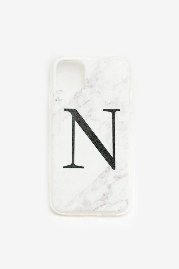 Étui d'iPhone 11 lettre N