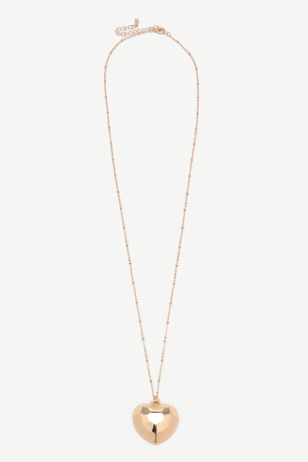 Collier long à pendentif à cœur