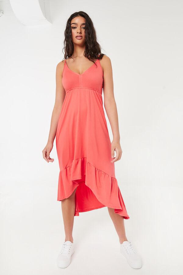 High-Low Empire Midi Dress