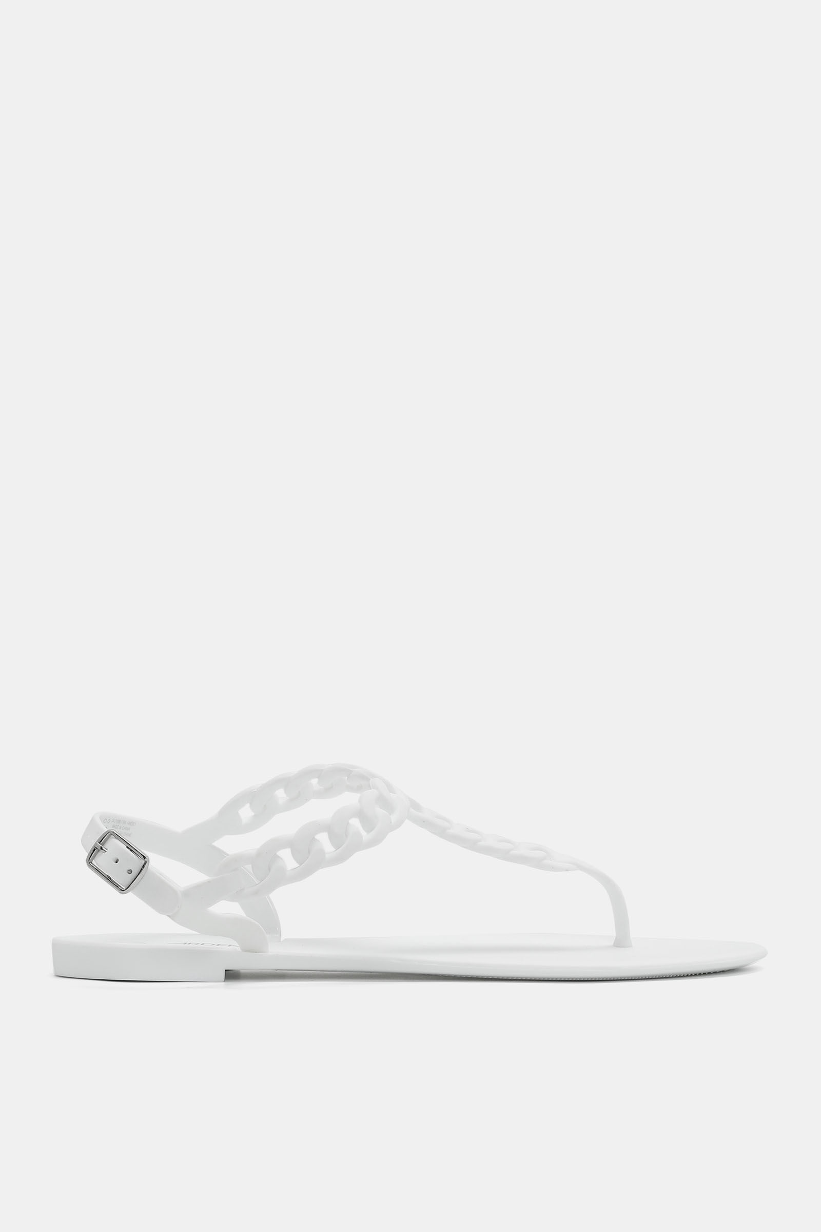 Braided Rubber T-Strap Sandals - Shoes