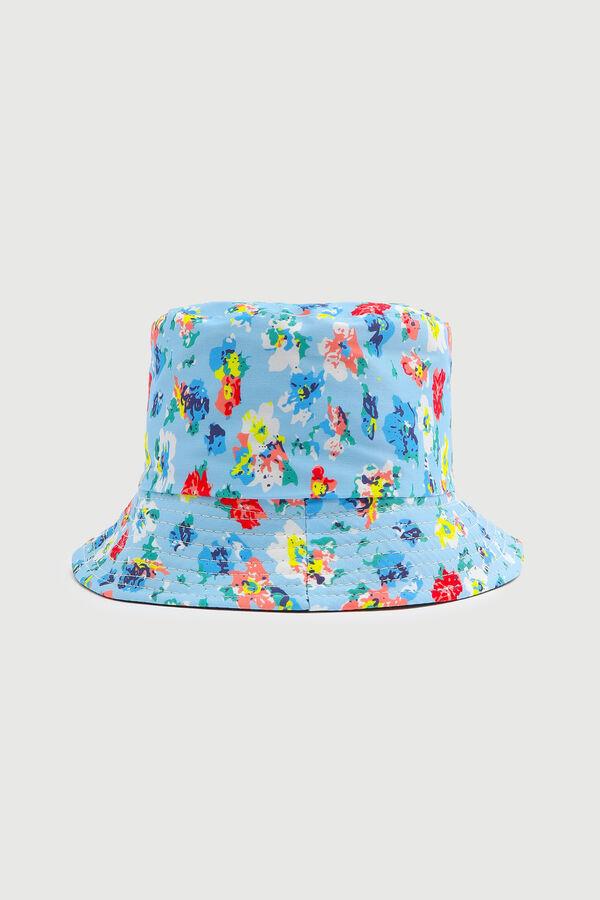 Chapeau de pêche fleuri