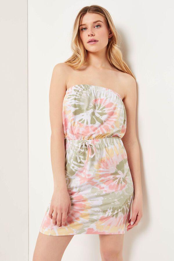 Tie-Dye Mini Tube Dress