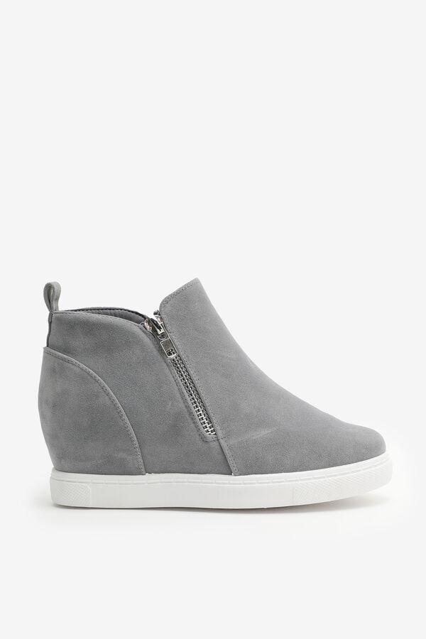 Wedge Sneakers with Side Zip