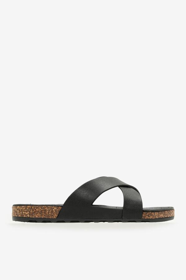 Molded Cork Cross-Strap Sandals