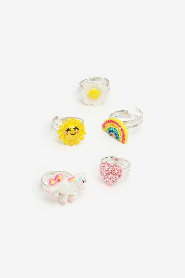 5-Pack Assorted Rings for Girls
