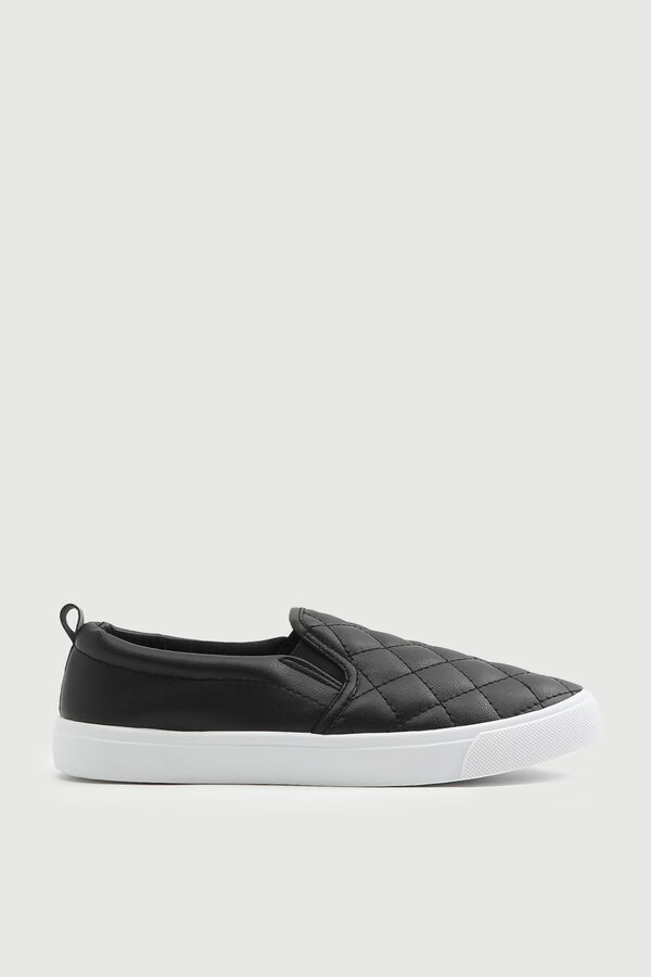 Quilted Slip-On Sneakers
